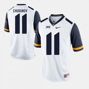Chris Chugunov College Jersey Alumni Football Game White For Men's WVU #11