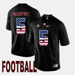 Men's Stanford Black #5 US Flag Fashion Christian McCaffrey College Jersey