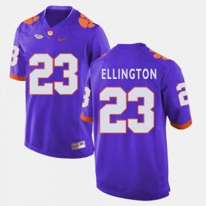 #23 Andre Ellington College Jersey Mens Purple Clemson University Football