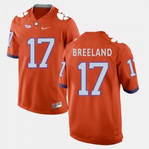 Orange #17 Football Clemson Men Bashaud Breeland College Jersey