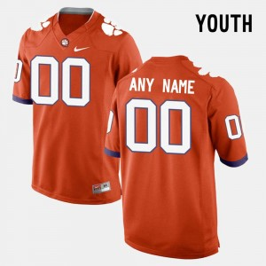 #00 Orange College Custom Jersey CFP Champs For Kids Limited Football