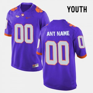 #00 For Kids Purple Clemson Limited Football College Customized Jersey