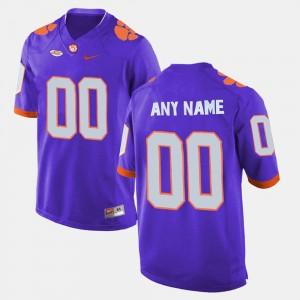 College Customized Jerseys Men's Purple Clemson Tigers Limited Football #00