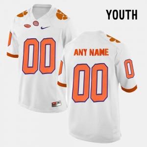 Limited Football #00 College Customized Jersey For Kids Clemson National Championship White