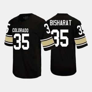 UC Colorado Black Beau Bisharat College Jersey Football Men #35