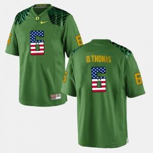 Green Men De'Anthony Thomas College Jersey US Flag Fashion #6 UO