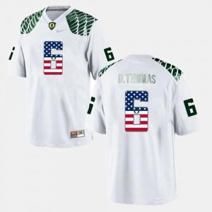 US Flag Fashion White Ducks De'Anthony Thomas College Jersey Men #6