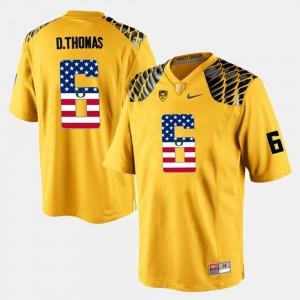 US Flag Fashion Yellow UO Men's De'Anthony Thomas College Jersey #6