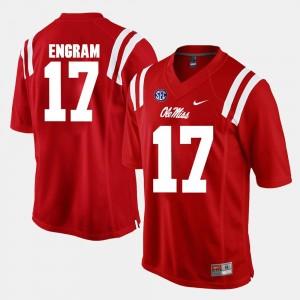 Red #17 Rebels Evan Engram College Jersey Alumni Football Game For Men