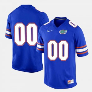Florida #00 For Men's Limited Football College Custom Jersey Royal Blue