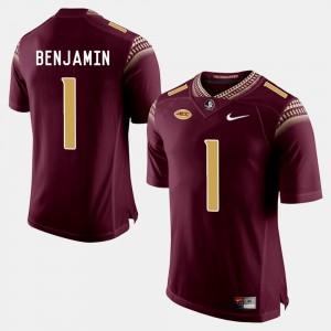 #1 For Men Garnet BKelvin Benjamin College Jersey Football Florida ST