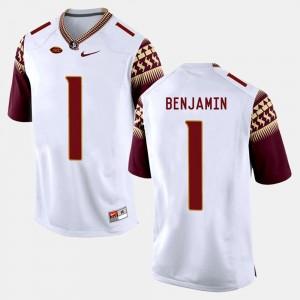 Football Seminoles BKelvin Benjamin College Jersey For Men's #1 White