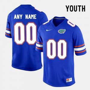 #00 Limited Football Youth(Kids) FSU Seminoles Blue College Customized Jersey