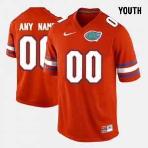 #00 Seminoles Orange Youth(Kids) College Customized Jerseys Limited Football