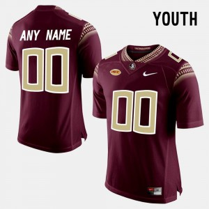 Red Limited Football Florida ST #00 Youth College Custom Jerseys