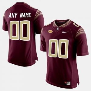 College Custom Jerseys Limited Football Mens Florida State Seminoles #00 Red