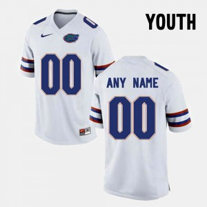 Kids White Florida State Limited Football #00 College Customized Jerseys