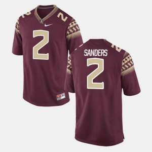 For Men's Deion Sanders College Jersey Garnet Florida ST Alumni Football Game #2