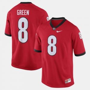 Mens Alumni Football Game Red A.J. Green College Jersey Georgia Bulldogs #8