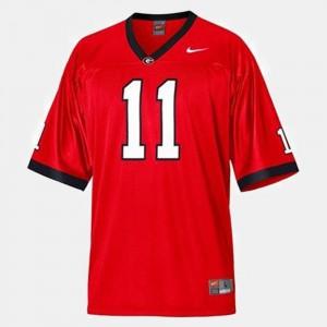 Mens Georgia Aaron Murray College Jersey #11 Football Red