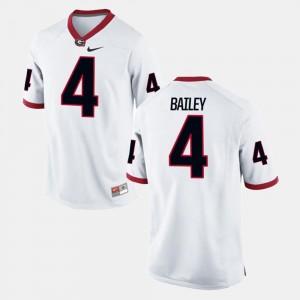 University of Georgia Champ Bailey College Jersey #4 For Men's White Alumni Football Game
