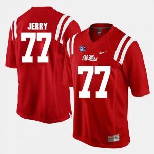Men Rebels Alumni Football Game John Jerry College Jersey Red #77