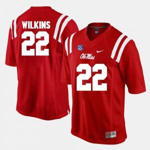 Alumni Football Game #22 Jordan Wilkins College Jersey Men University of Mississippi Red