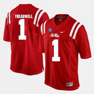 Laquon Treadwell College Jersey Red Alumni Football Game Mens #1 Rebels