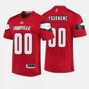Mens Football #00 Louisville Cardinals Red College Custom Jerseys