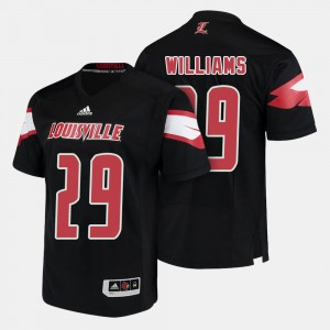 For Men's Malik Williams College Jersey Cardinal #29 Football Black