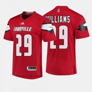#29 Football Louisville Cardinals For Men Malik Williams College Jersey Red
