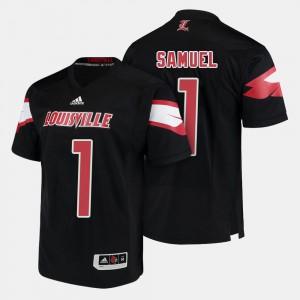 Black #1 U of L For Men's Football Traveon Samuel College Jersey