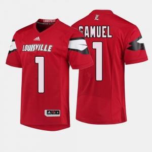 Red Men Football Louisville Cardinals #1 Traveon Samuel College Jersey