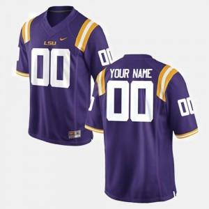 #00 College Customized Jersey Tigers Men's Football Purple