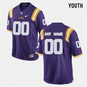 Purple Limited Football College Custom Jerseys For Kids #00 LSU
