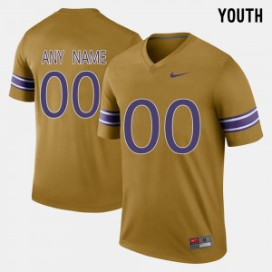 #00 Throwback Gridiron Gold Tigers College Customized Jersey Kids