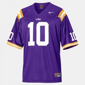 #10 Mens LSU Purple Football Joseph Addai College Jersey