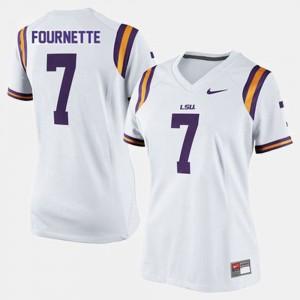 #7 Leonard Fournette College Jersey White Football Womens Tigers