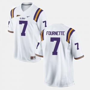 Tigers Football Leonard Fournette College Jersey For Men's #7 White