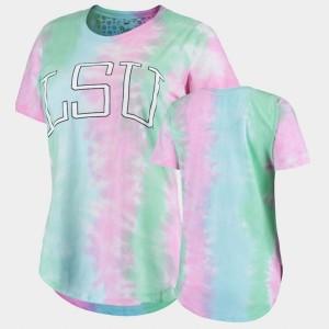 LSU Tigers College T-Shirt Rainbow Bay Tie Dye Womens