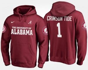 Crimson #1 Men's No.1 College Hoodie University of Alabama