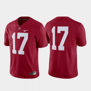 Crimson Football University of Alabama #17 Men Limited College Jersey