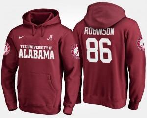 For Men Bama #86 A'Shawn Robinson College Hoodie Crimson
