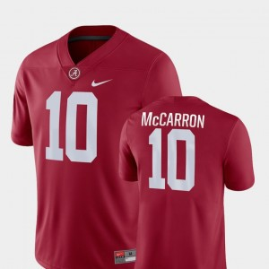 Roll Tide Game #10 AJ McCarron College Jersey Men Football Crimson