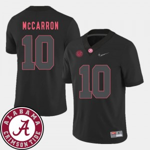 #10 Black 2018 SEC Patch Alabama AJ McCarron College Jersey Men Football