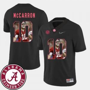 Football Black For Men's Pictorial Fashion Roll Tide #10 AJ McCarron College Jersey