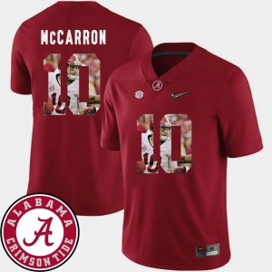 Pictorial Fashion #10 Football Crimson Roll Tide AJ McCarron College Jersey Men's
