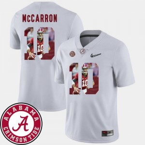 Pictorial Fashion #10 White Roll Tide AJ McCarron College Jersey Football For Men