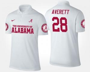Anthony Averett College Polo Alabama Crimson Tide #28 White For Men