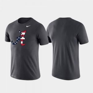 College T-Shirt Anthracite Men's Alabama Performance Americana Legend